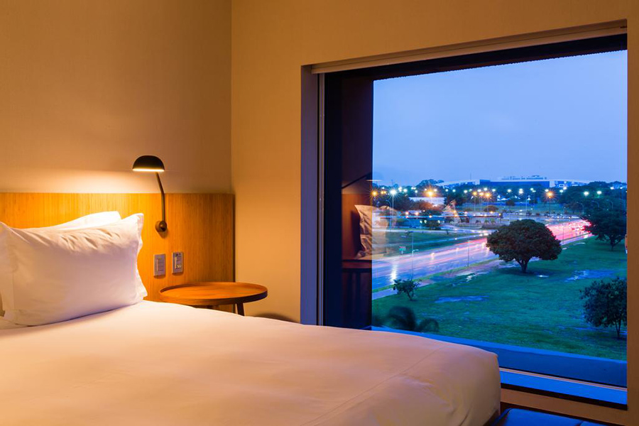 O moderno e luxuoso hotel de Brasília