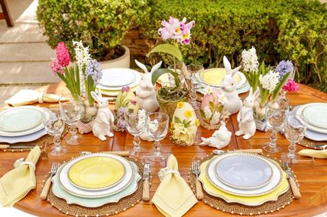 Decoração: Mesa posta para receber bem no almoço de Páscoa