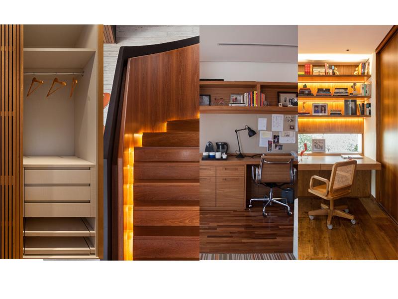 Quatro projetos da AG Movelaria e Design para se inspirar