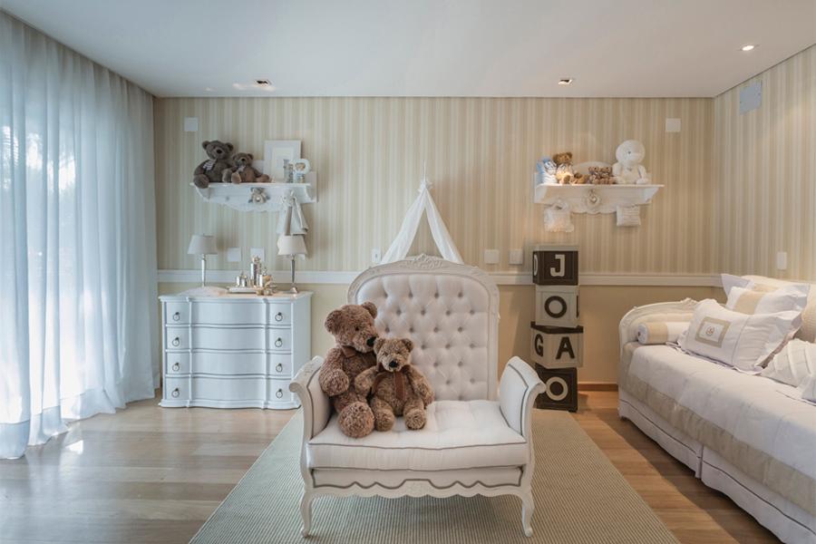 Aposte nos papéis de parede para destacar o lúdico nos dormitórios infantis