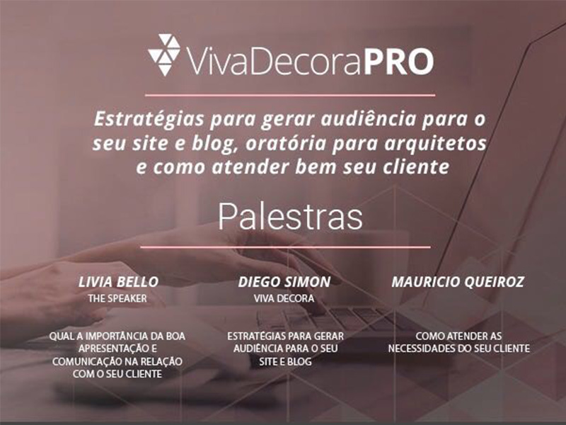 Viva Decora PRO realiza novo ciclo de palestras