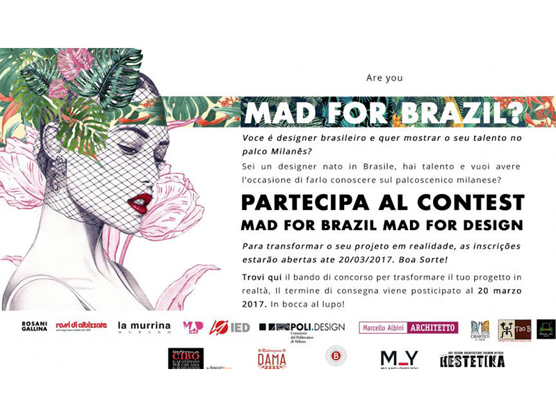Inscrições abertas para o concurso Mad for Brazil, Mad for Design